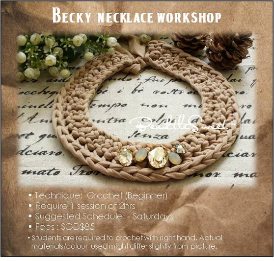 Jewellery Making Course : Becky Necklace Crochet Workshop