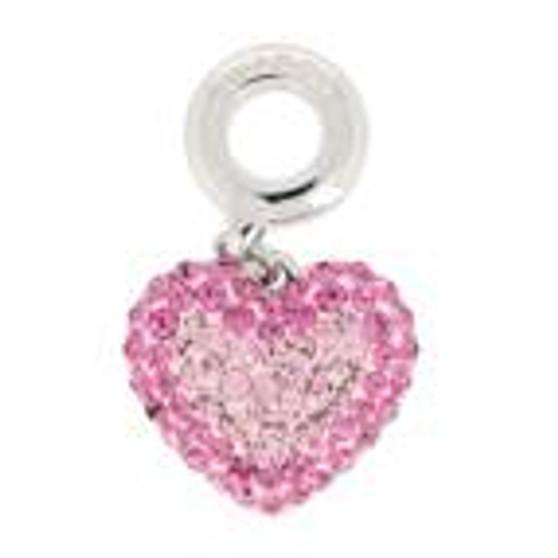 Swarovski BeCharmed Pave Heart Charm 86502