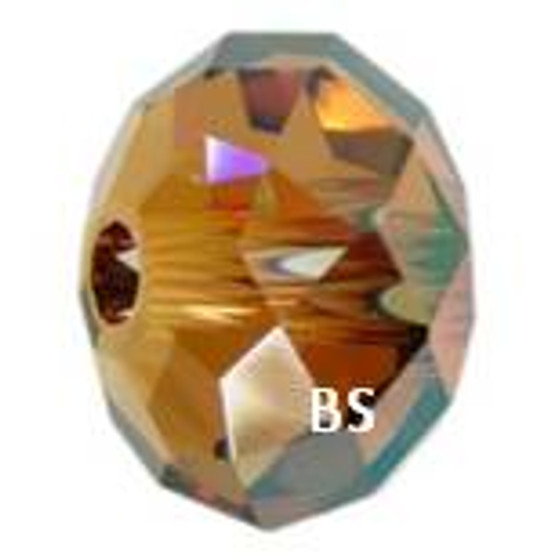 Swarovski 5041 Briolette Bead Crystal Copper 18mm