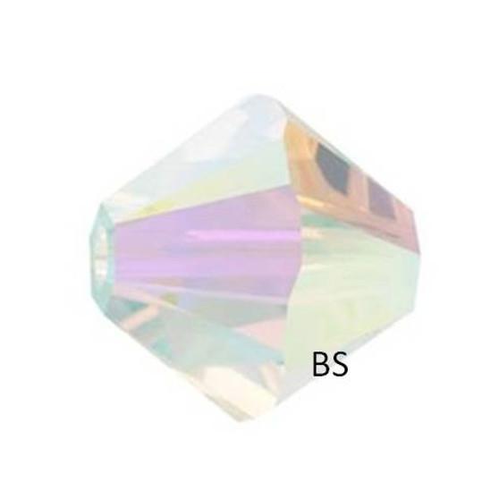 4mm Swarovski 5328 Crystal AB 2X Bicone Bead