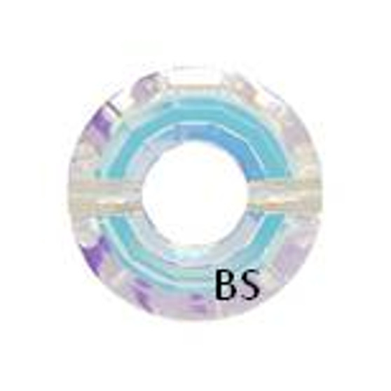 Swarovski 5139 Ring Bead Crystal AB 12.5mm