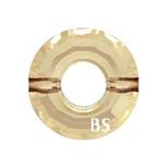 Swarovski 5139 Ring Bead Crystal Golden Shadow 12.5mm