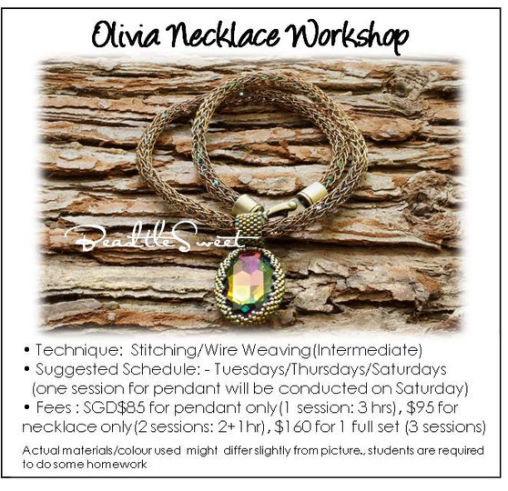 Wire Weaving and Stitching Course : Olivia Necklace Workshop