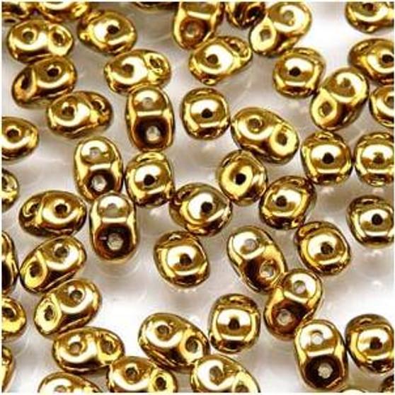 SuperDuo Beads 2.5X5mm Full Amber