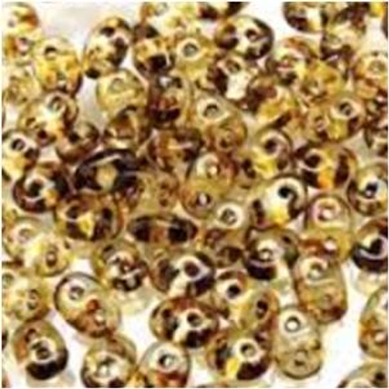 SuperDuo Beads 2.5X5mm Crystal Travertin Dark