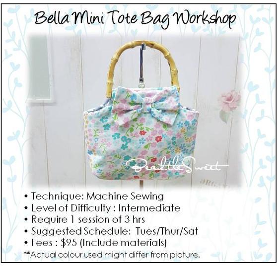 Bella Mini Tote Bag Workshop