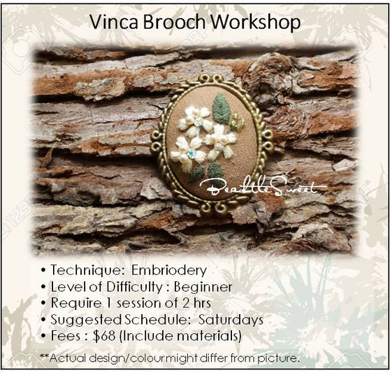 Jewelry Making Course : Vinca Embriodery Workshop