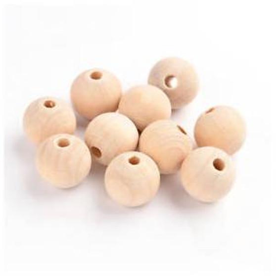 20mm Round Wooden Beads