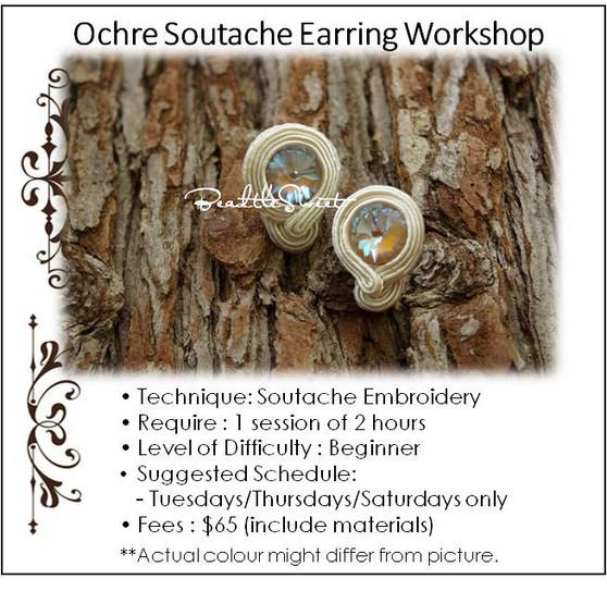 Ochre Soutache Earring Workshop