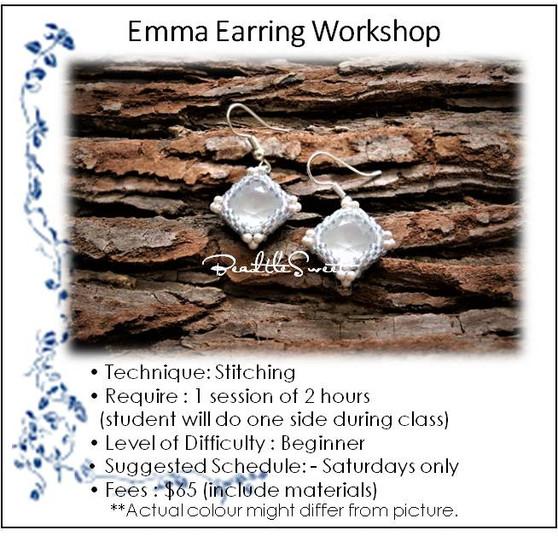 Jewellery Making Workshop : Emma Earring