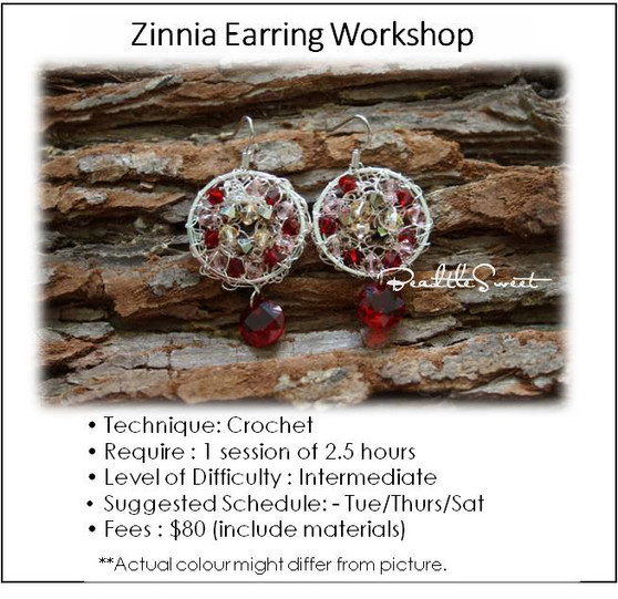 Jewelry Making Course : Zinnia Earring Workshop