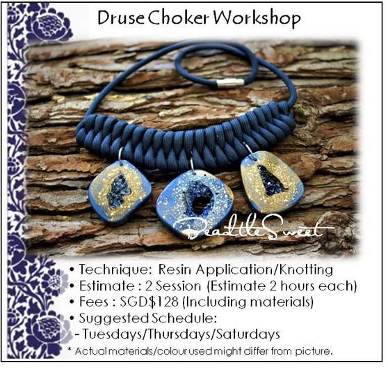 Jewellery Making Course : Druse Choker Workshop