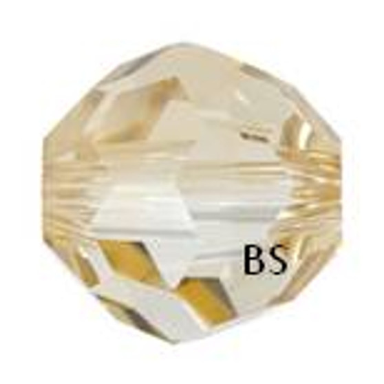 Swarovski 5900 Large Hole Round Bead Crystal Golden Shadow 14mm