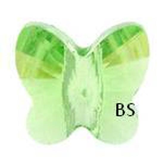 Swarovski 5754 Butterfly Bead Peridot 6mm
