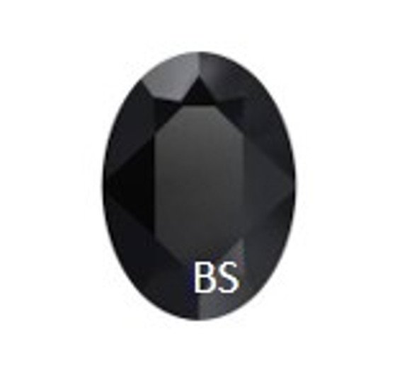 Swarovski 4210 Jet Unfoiled 25x18mm Oval Fancy Stone