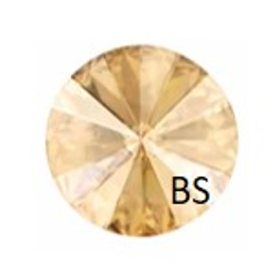 10mm Swarovski 1122 Crystal Golden Shadow Rivoli (ss47)