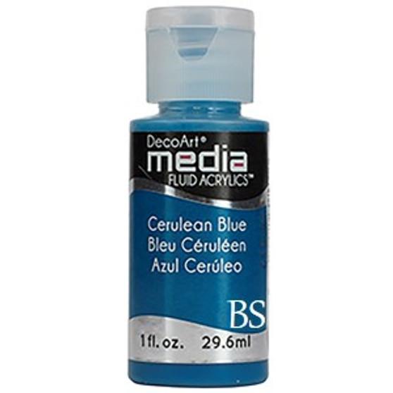 DecoArt Media Fluid Acrylics - Cerulean Blue