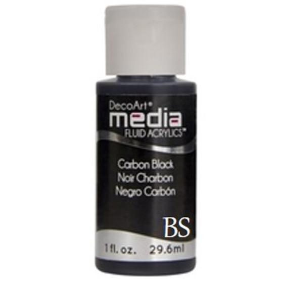 DecoArt Media Fluid Acrylics - Carbon Black