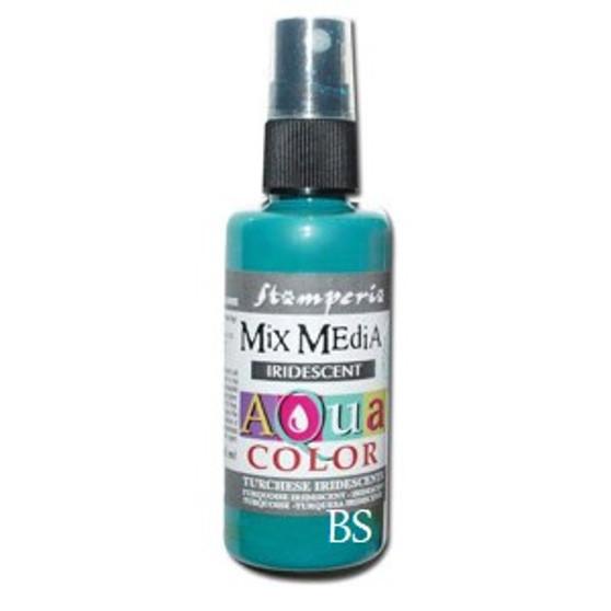 Stamperia Aquacolor Spray - Iridescent Turquoise (60ml)
