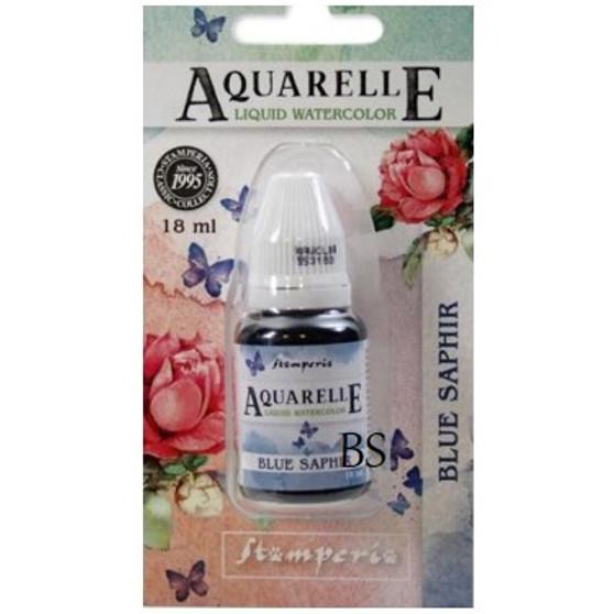 Stamperia Aquarelle Blue Sapphire