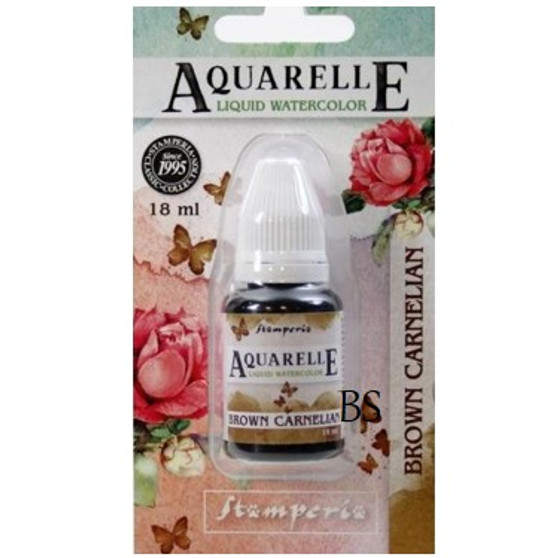 Stamperia Aquarelle Brown Carnelian