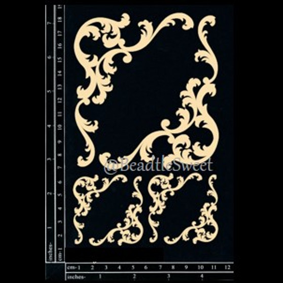 Baroque Corners Chipboard by Dusty Attic