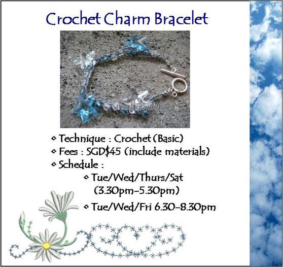 Jewelry Making Course: Crochet Charm Bracelet Workshop