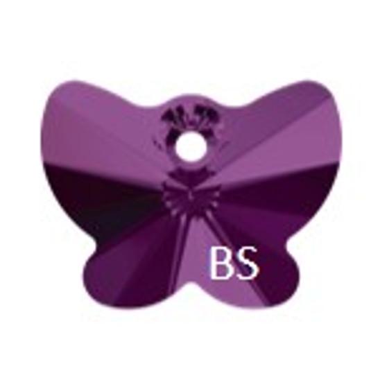 18mm Swarovski 6754 Amethyst Butterfly Pendant
