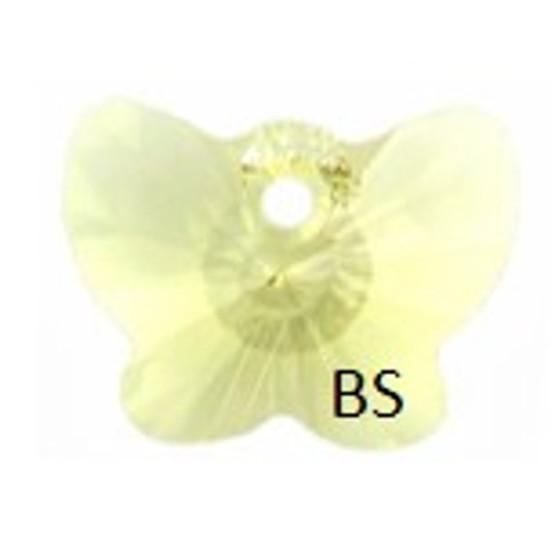 18mm Swarovski 6754 Jonquil Butterfly Pendant
