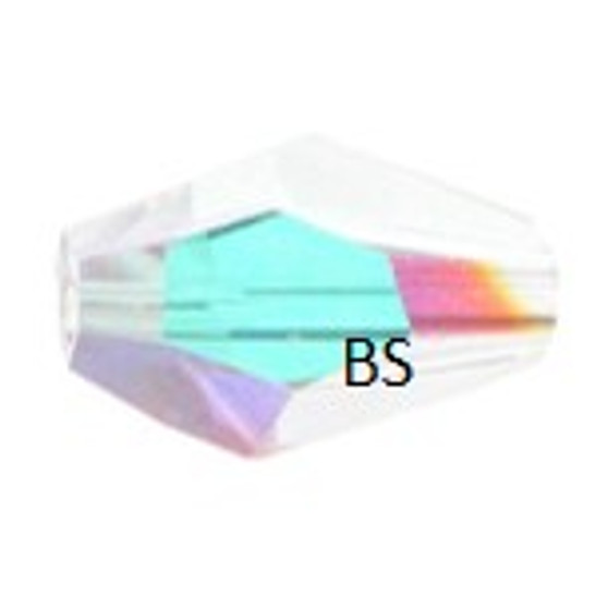 Swarovski 5203 Polygon Bead Crystal AB 12x8mm