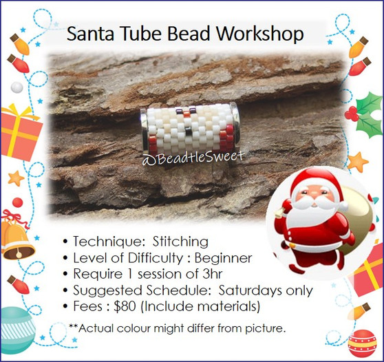 Jewellery Making Course : Santa Tube Bead Workshop