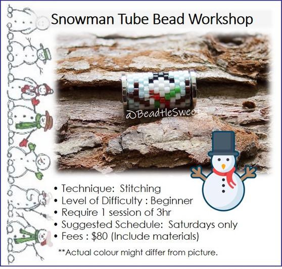 Jewellery Making Course : Snowman Tube Bead Workshop