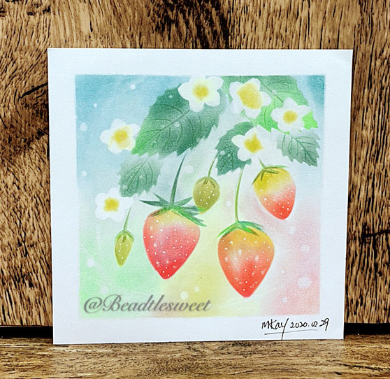 Nagomi Pastel Art : Strawberries