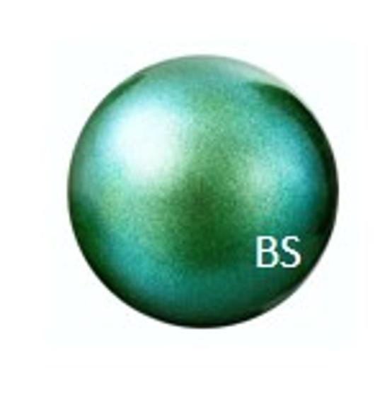 8mm Preciosa Round Pearl Maxima Pearlescent Green Pearls