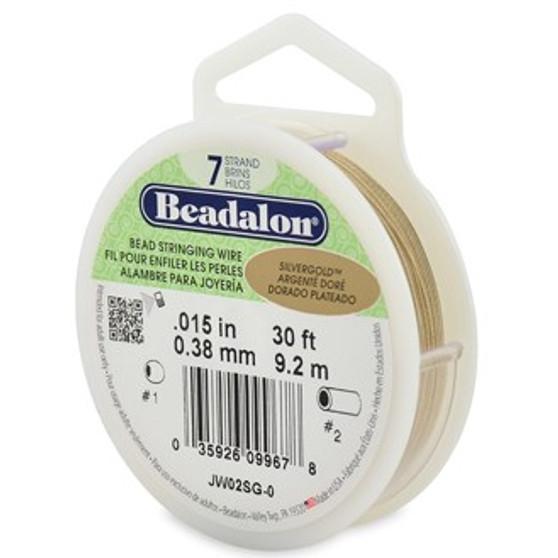 Beadalon 7 Strand 0.25mm Silver Gold