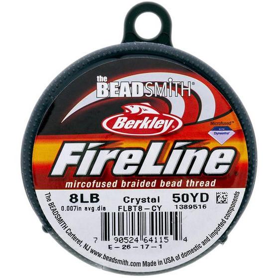 Beadsmith Fireline Braided Bead Thread 8LB Crystal
