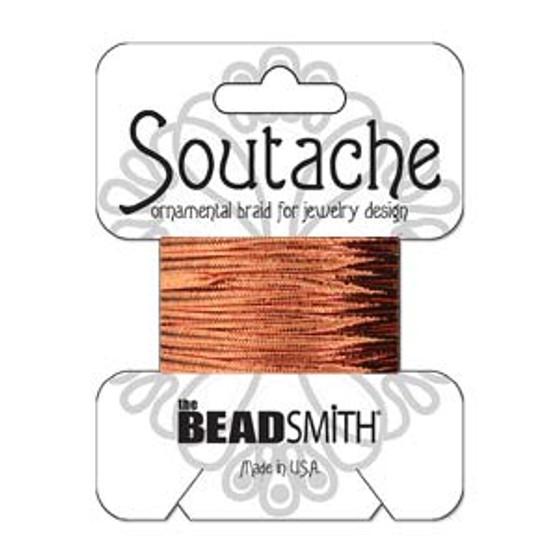 Soutache Rayon Braided Cord (Copper Metallic)