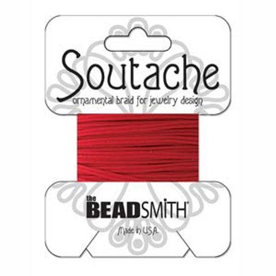 Soutache Rayon Braided Cord (Red)