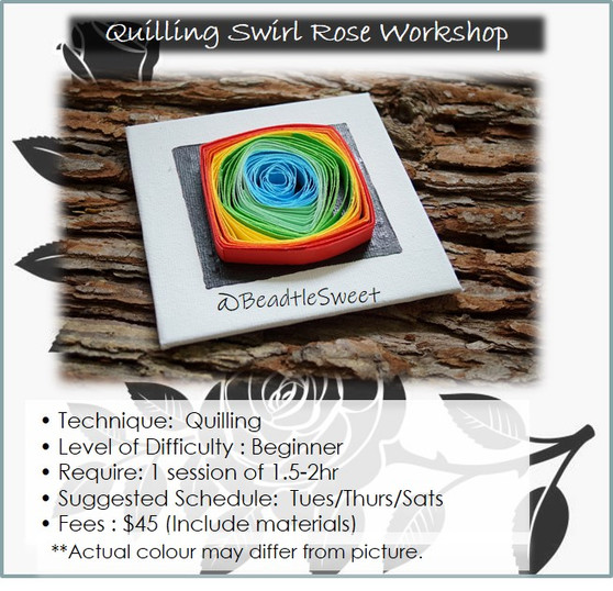 Quilling Course: Swirl Rose Workshop