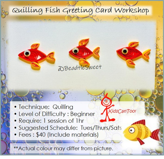 Quilling Course: Fish Greeting Card Workshop