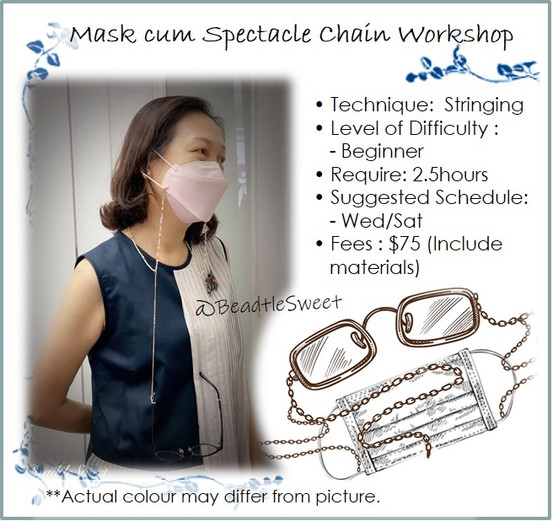 Jewellery Making Course : Mask cum Spectacle Chain Workshop