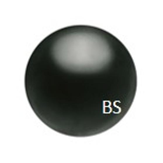 4mm Preciosa Round Pearl Maxima Magic Black Pearls