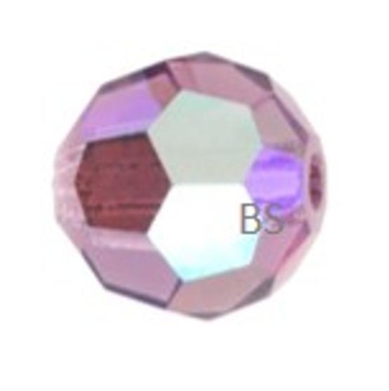 Preciosa Light Amethyst AB MC Round Bead