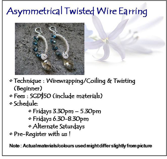 Jewelry Making Course :Asymmetrical Twisted Wire Earring Workshop