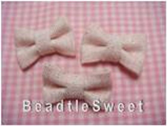 Pastel Pink Glittery Ribbons