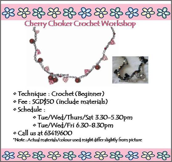 Jewelry Making Course: Cherry Choker Crochet Workshop