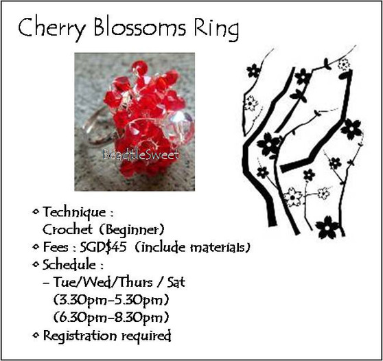 Jewelry Making Course:Cherry Blossoms Ring Workshop