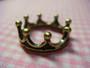 Antique Brass Crown Charm