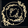 Circle Baroque Frame Set Chipboard by Dusty Attic