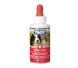Troy Puppy & Kitten Worming Syrup 50mls